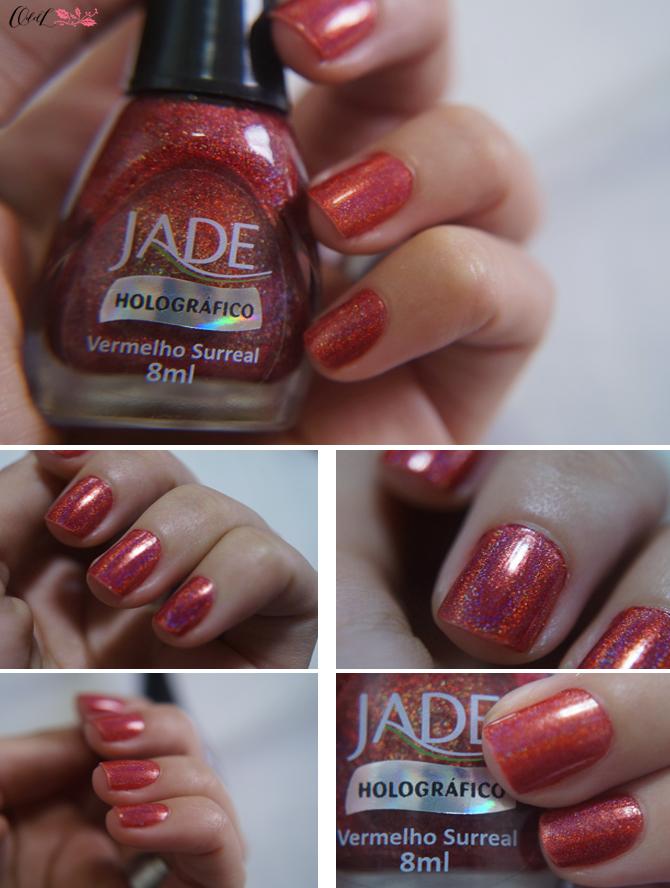 holográfico Jade vermelho Surreal