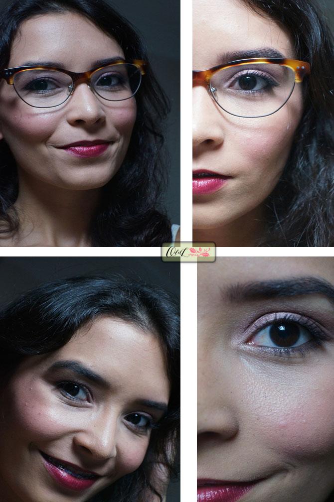 maquiagem versátil óculos