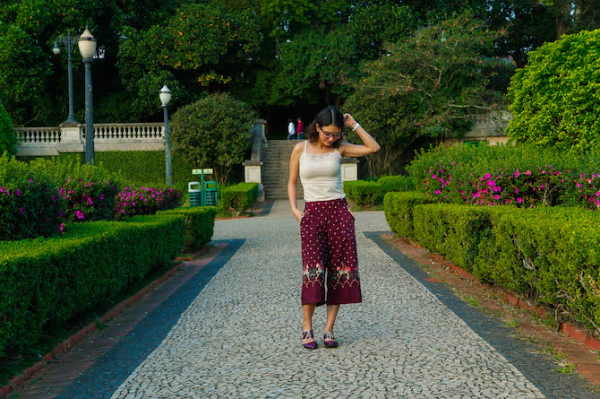 Vamos de pantacourt estampada? | Look da Lila - O dia da Lila