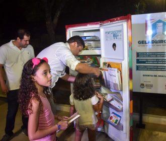 Marcelo Palmeira entrega primeira Geladeiroteca