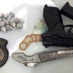 Casal é preso com drogas e um simulacro em Joaquim Gomes