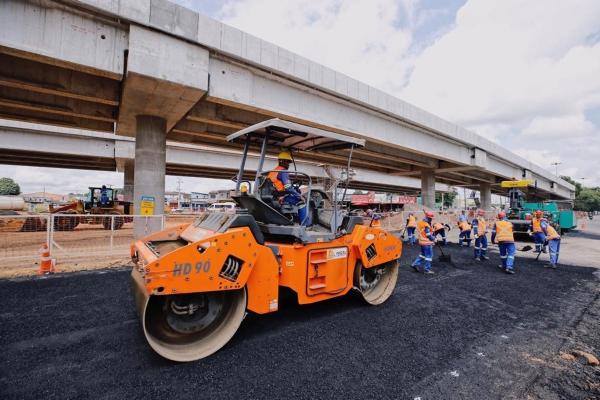 Obra é executada pelo Governo do Estado, por meio da Secretaria de Transporte e Desenvolvimento Urbano (Setrand), com recursos federais da ordem de R$ 77,4 milhões (Foto: Márcio Ferreira)