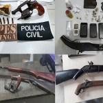 Armas de fogo são apreendidas durante operações em Maceió e interior