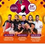Confira a programação da 34ª Festa da Cultura de Quebrangulo