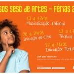 Sesc promove Cursos de Artes durante as férias escolares