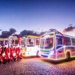 Ônibus natalinos: carreata levará mais cor à orla neste sábado