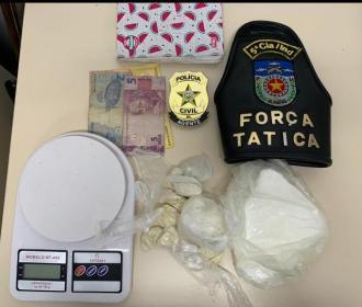 Mulher é presa com pasta base de cocaína em Marechal Deodoro