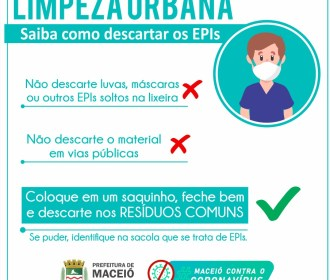 Limpeza Urbana: como realizar o descarte correto de EPIs