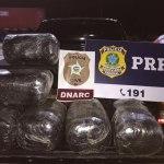 Polícia encontra mais de 30kg de maconha em caminhonete no município de Messias