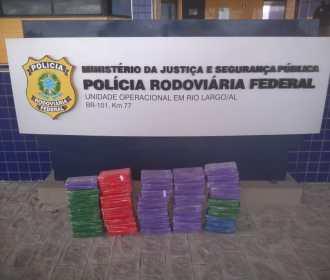 PRF apreende mais de 50kg de pasta base de cocaína na BR 101