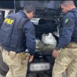 Dupla é presa após ser flagrada em posse de 50kg de maconha no Sertão de Alagoas