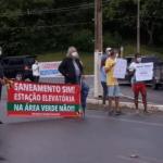 Moradores de Guaxuma protestam novamente contra obra de estação elevatória