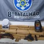 Polícia Militar apreende 50kg de maconha e prende suspeito de trágico em Maceió