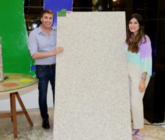 Fábrica lança texturas Massunim e Sururu em parceria com projeto social e reúne arquitetos de Alagoas