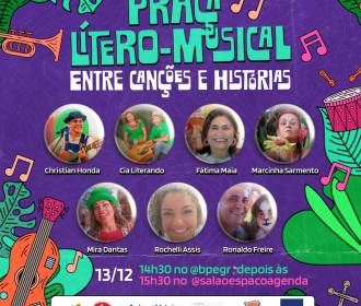 Praça Lítero-musical acontece através de live neste domingo, 13