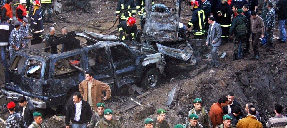 El asesinato de Rafic Hariri el 14 de febrero de 2005