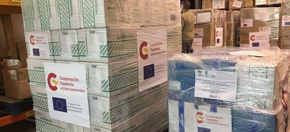 Ayuda humanitaria contre el Covid-19