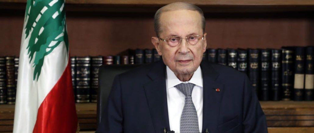 El presidente Aoun