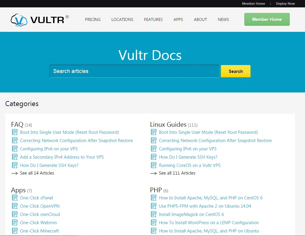 Vultr VPS hosting