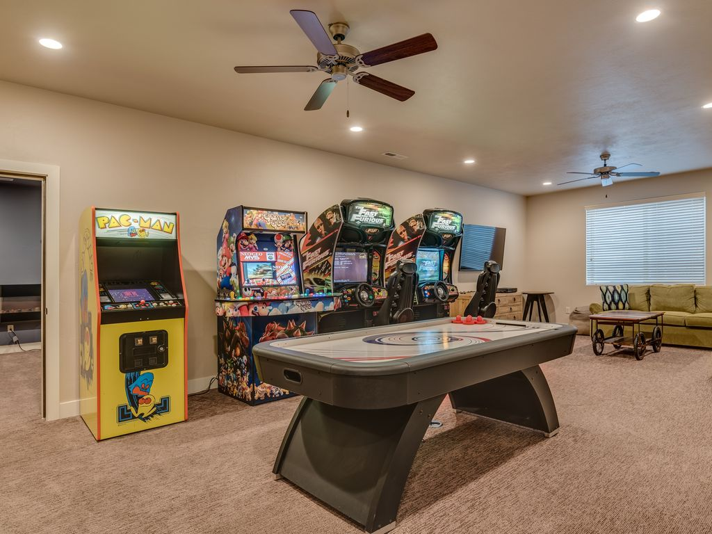 Fun group games for kids and adults are a great way to bring. Awesome Arcade House - GAME Room!/Hot Tub/Theater Room ...