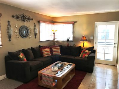 Sectional In Living Room Air Mattress Also Available
