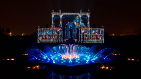 akshardham musical fountain