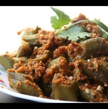 bhindi coconut masala-1