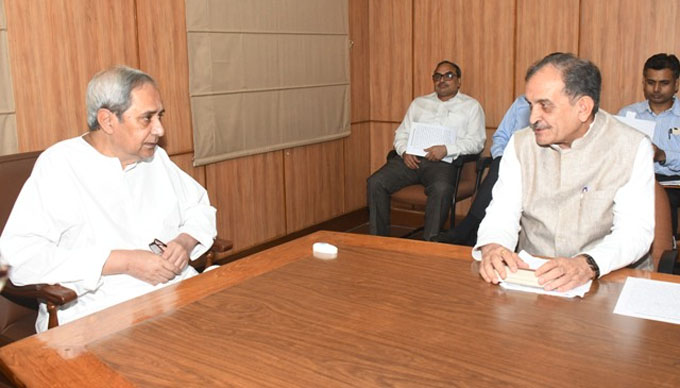 naveen with central minister
