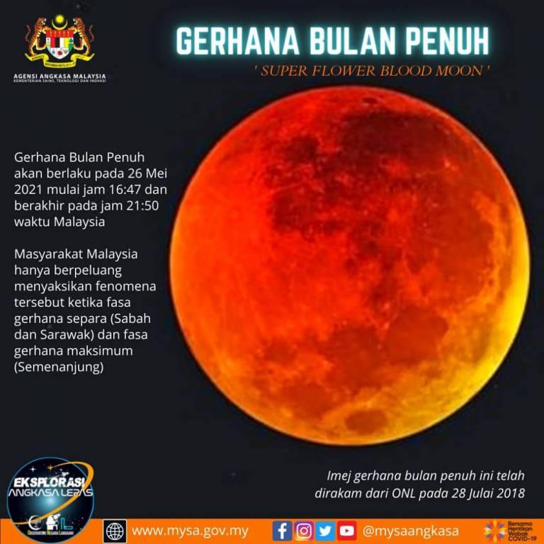 Jangan Ketinggalan Saksikan Fenomena Gerhana Bulan Penuh 'Super Flower Blood Moon' Rabu Ini
