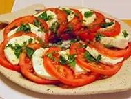 Salade tomates et mozzarella