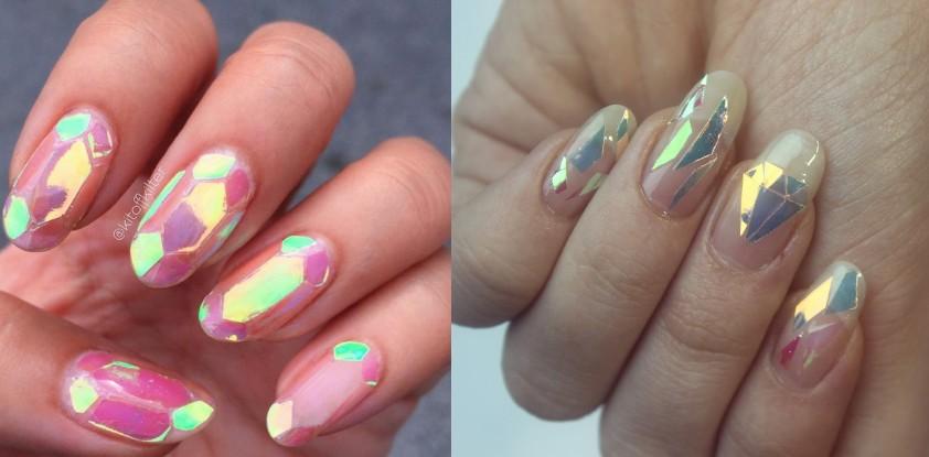 Town Glass Design Photos sur les ongles