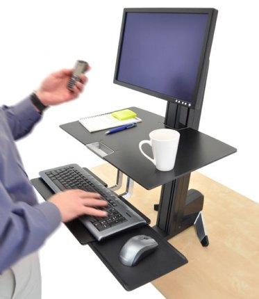 Image result for adjustable standing computer desk