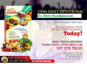 Our Daily Manna Devotional 19th January 2018