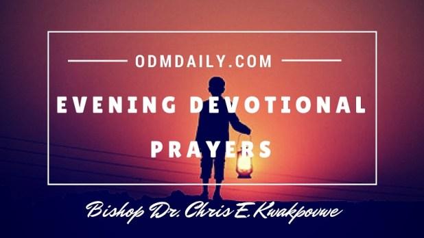 Evening Devotional Prayers