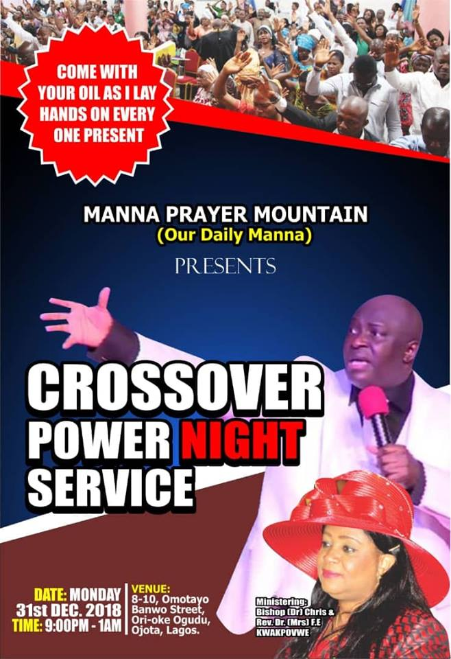 CROSSOVER SERVICE LIVE With BISHOP Dr CHRIS
