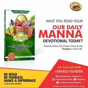 Manna devotional 31 March 2021
