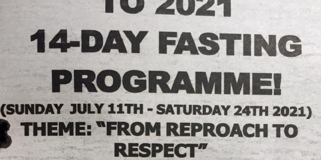 WELCOMETO THE 2021 14-DAY FASTING - PROGRAMME!