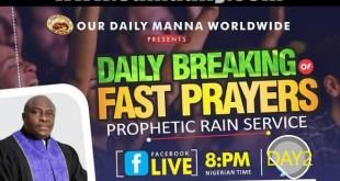 ODM DAY 2 FAST PRAYER POINTS