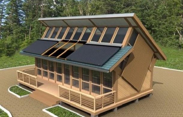 Необычный дом с максимальным получением энергии от солнца