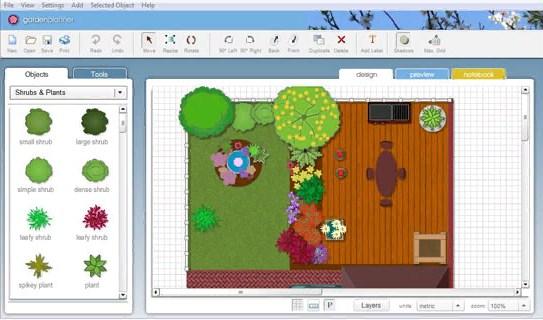 garden-planner - создание ландшафтного дизайна