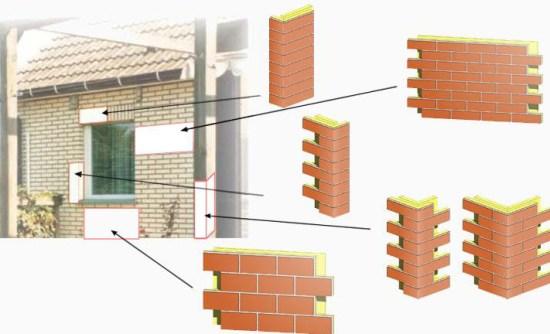 монтаж клинкера на фасад