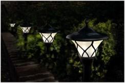 Дачные светильники в ряд