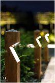Светильники в форме деревянного пограничного столба