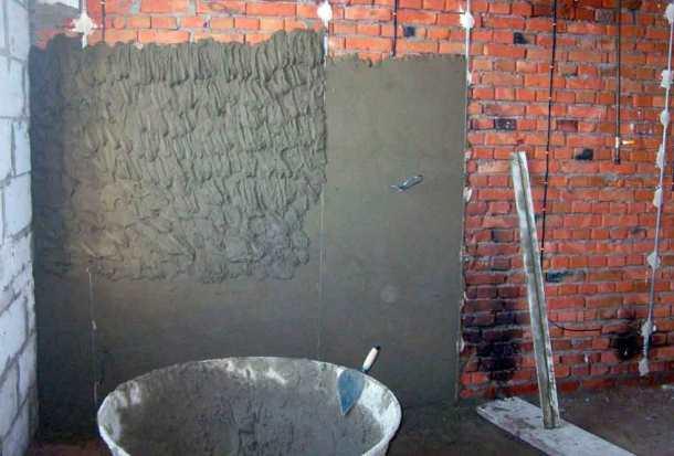 раствор для оштукатуривания стен