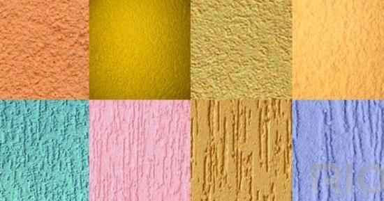 цветная известково-песчаная декоративная штукатурка