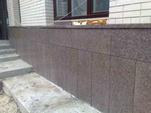 облицовка фасада плитами природного камня