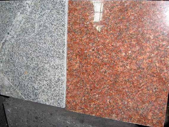 облицовочные гранитные плиты разного цвета