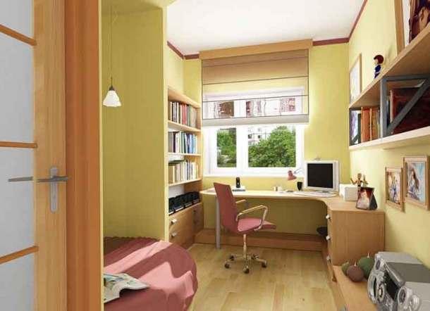 комната школьника с рабочим местом
