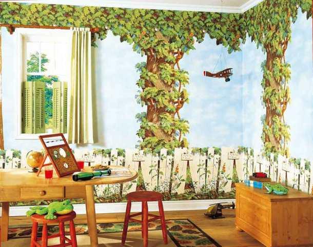 художественные обои в детской комнате