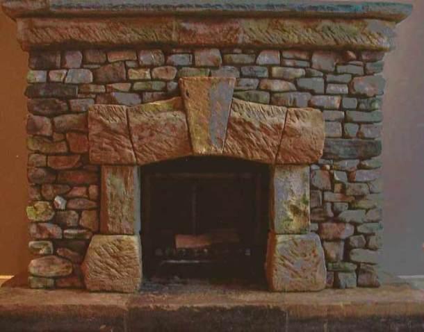камины из камня